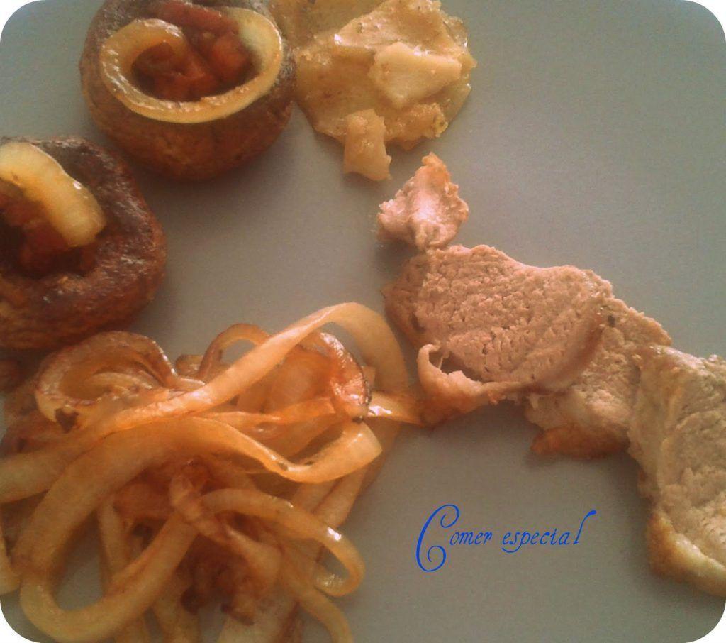 Receta de solomillo de cerdo al horno con verduras y patatas