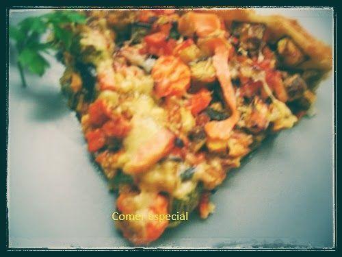 Receta de quiche de verduras y salmón
