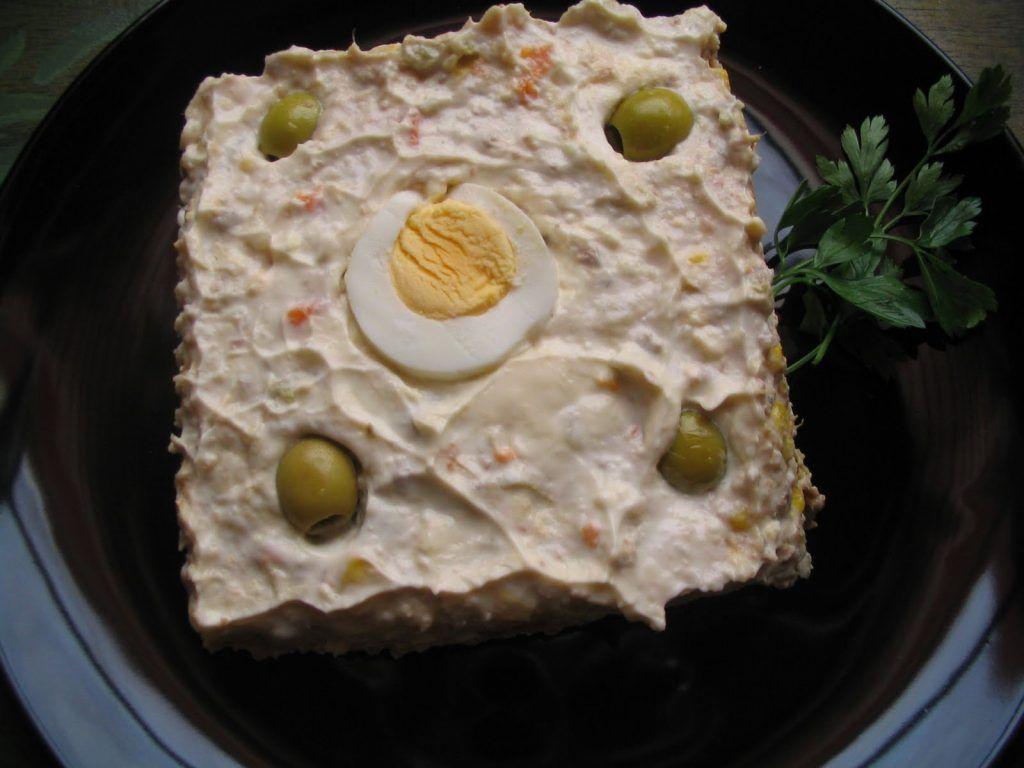 Ensaladilla rusa con mayonesa casera sin lactosa