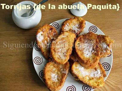 Deliciosas torrijas con receta tradicional de la abuela Paquita