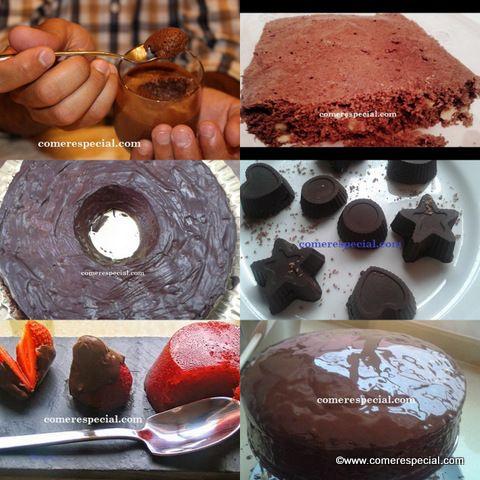 Recetas variadas con chocolate y sin lactosa
