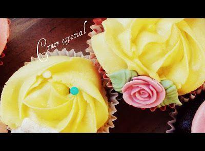 Receta de cupcakes de limón y chocolate sin lactosa
