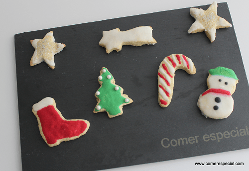 Receta de galletas navideñas sin lactosa decoradas
