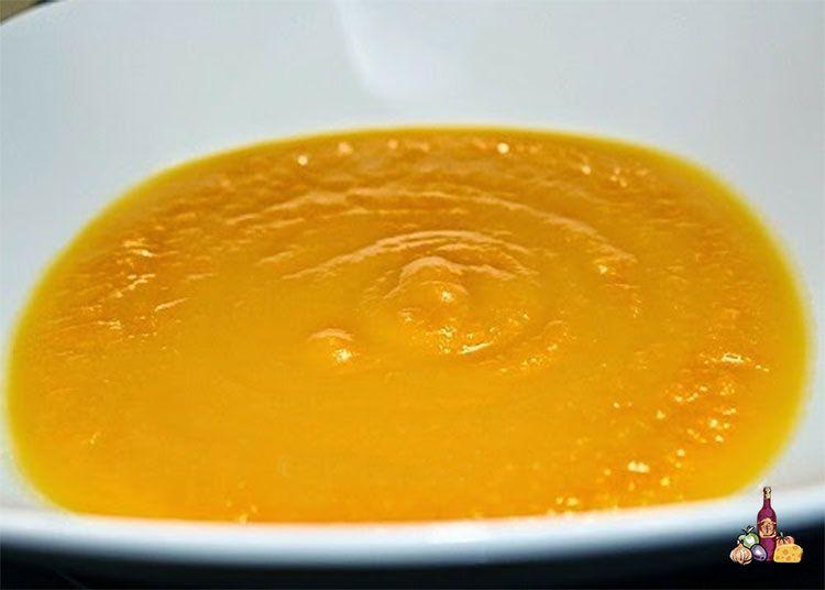 Crema de calabaza y zanahorias