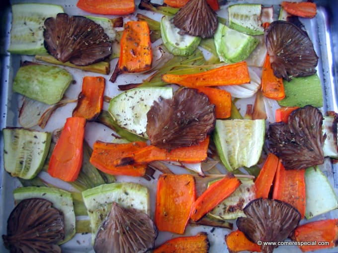Verduras al horno recetas