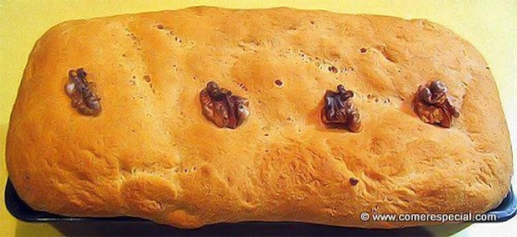 Pan de molde integral con nueces