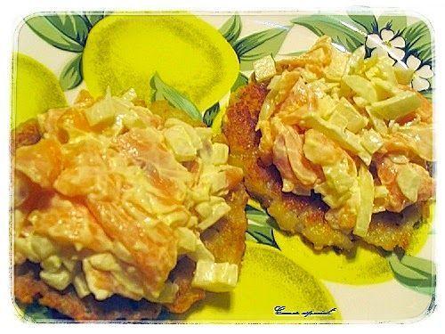 Torta de patatas con salmón ahumado