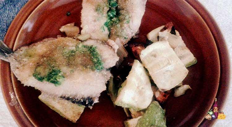 Sardinas y verduras al horno