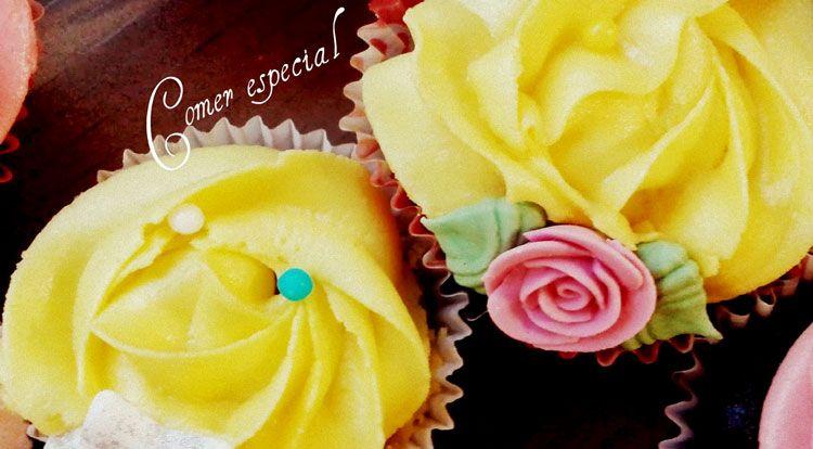 Cupcakes de chocolate y limón apto para intolerantes a la lactosa