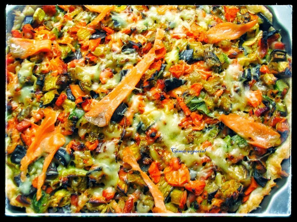 Deliciosa receta de quiche de verduras y salmón sin lactosa