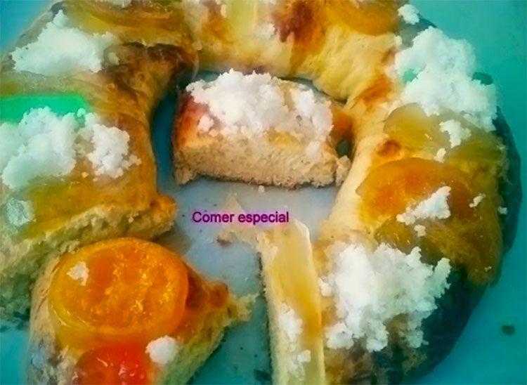 Delicioso roscón de Reyes sin lactosa