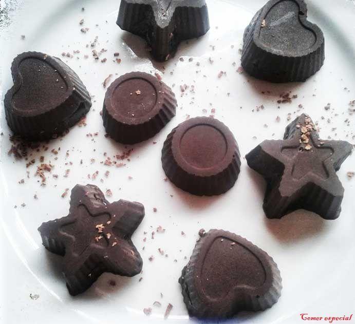 Bombones de chocolate sin lactosa