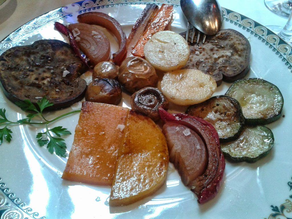 Verduras restaurante Parador de Tordesillas