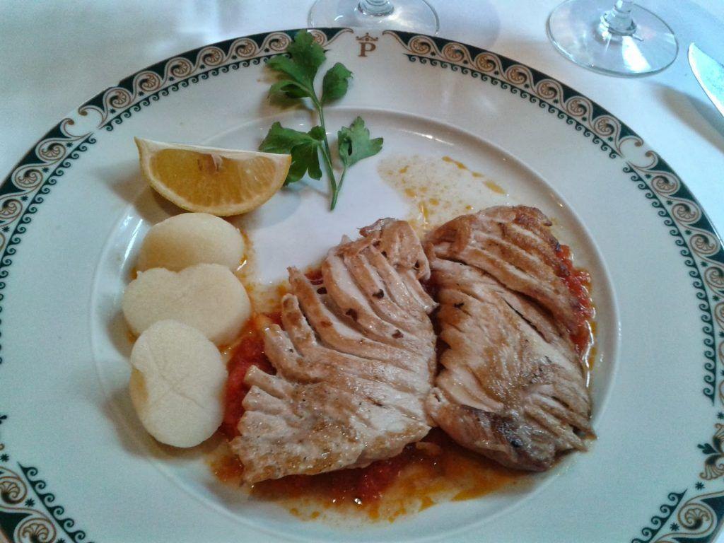 Pescado especial restaurante Parador de Tordesillas