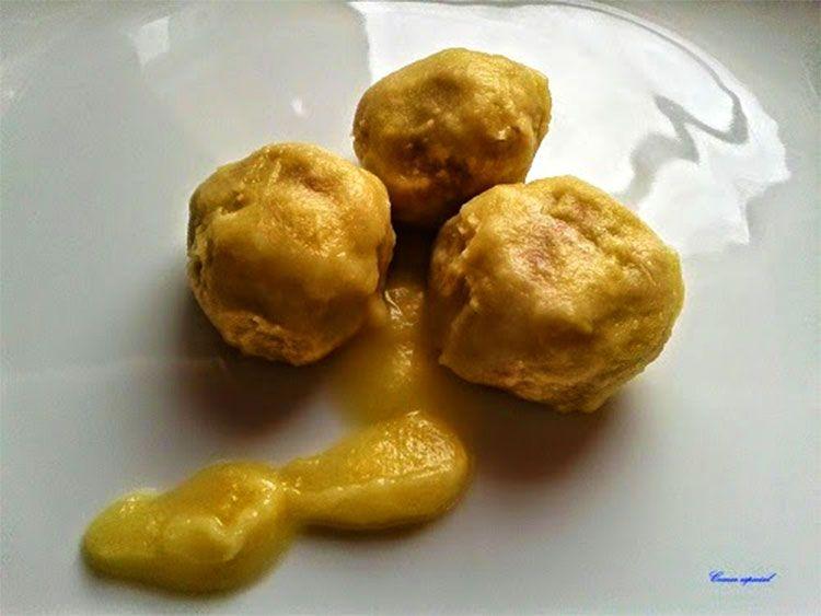 Albóndigas al horno con salsa de manzanas