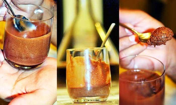Mousse de chocolate negro sin lactosa