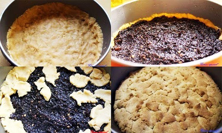 Preparación de la tarta de semillas de amapola sin lactosa