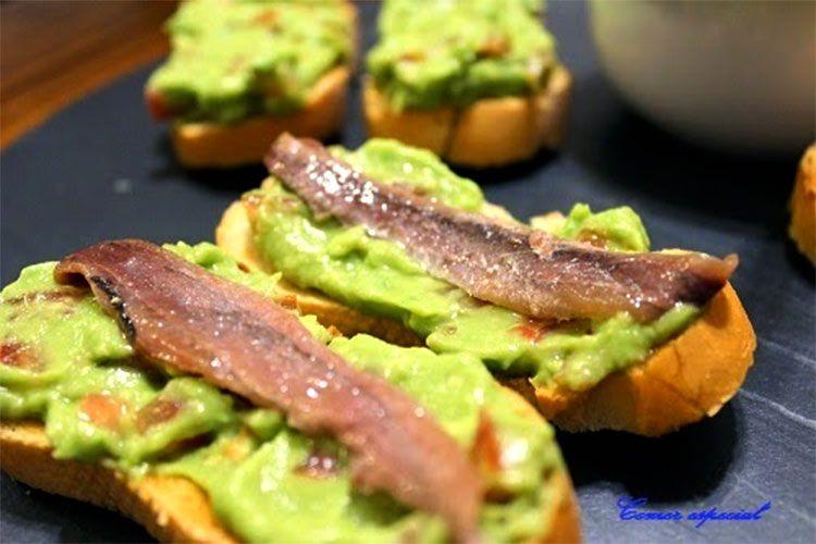 Guacamole con anchoas