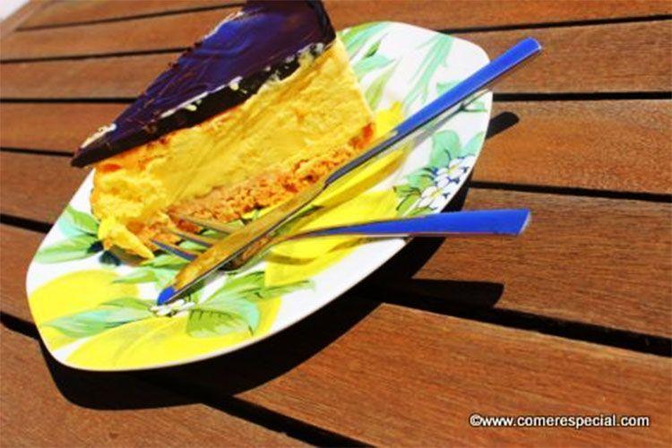 Tarta helada de vainilla sin horno y sin lactosa