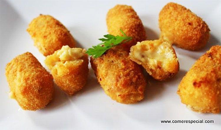 Croquetas de bacalao con cebolla caramelizada