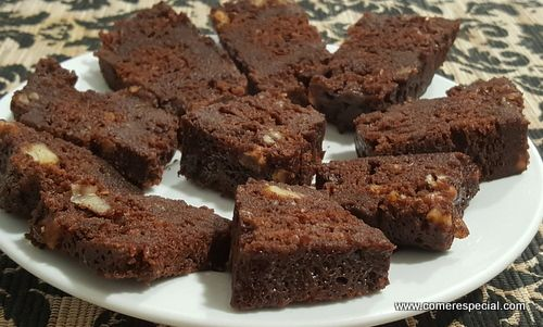 Receta de brownie en 4 minutos, sin harina ni lactosa