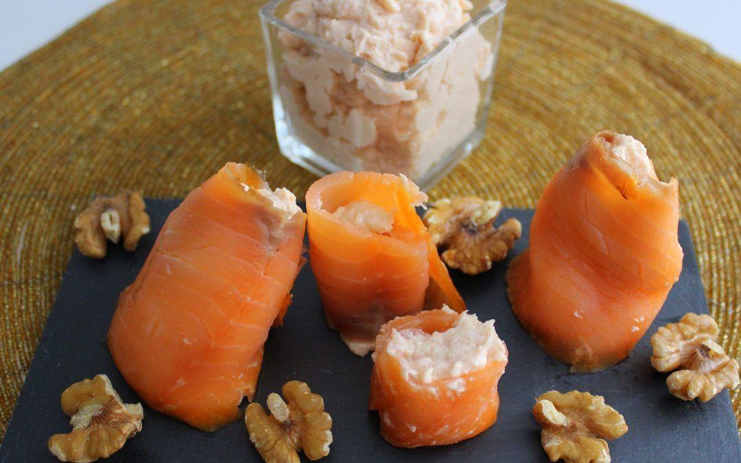 Dos recetas con salmón ahumado: dip y rollitos rellenos