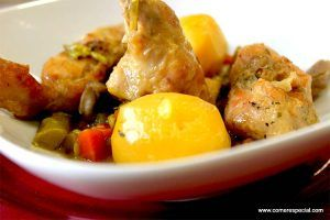 Guiso de conejo con verduras y patatas