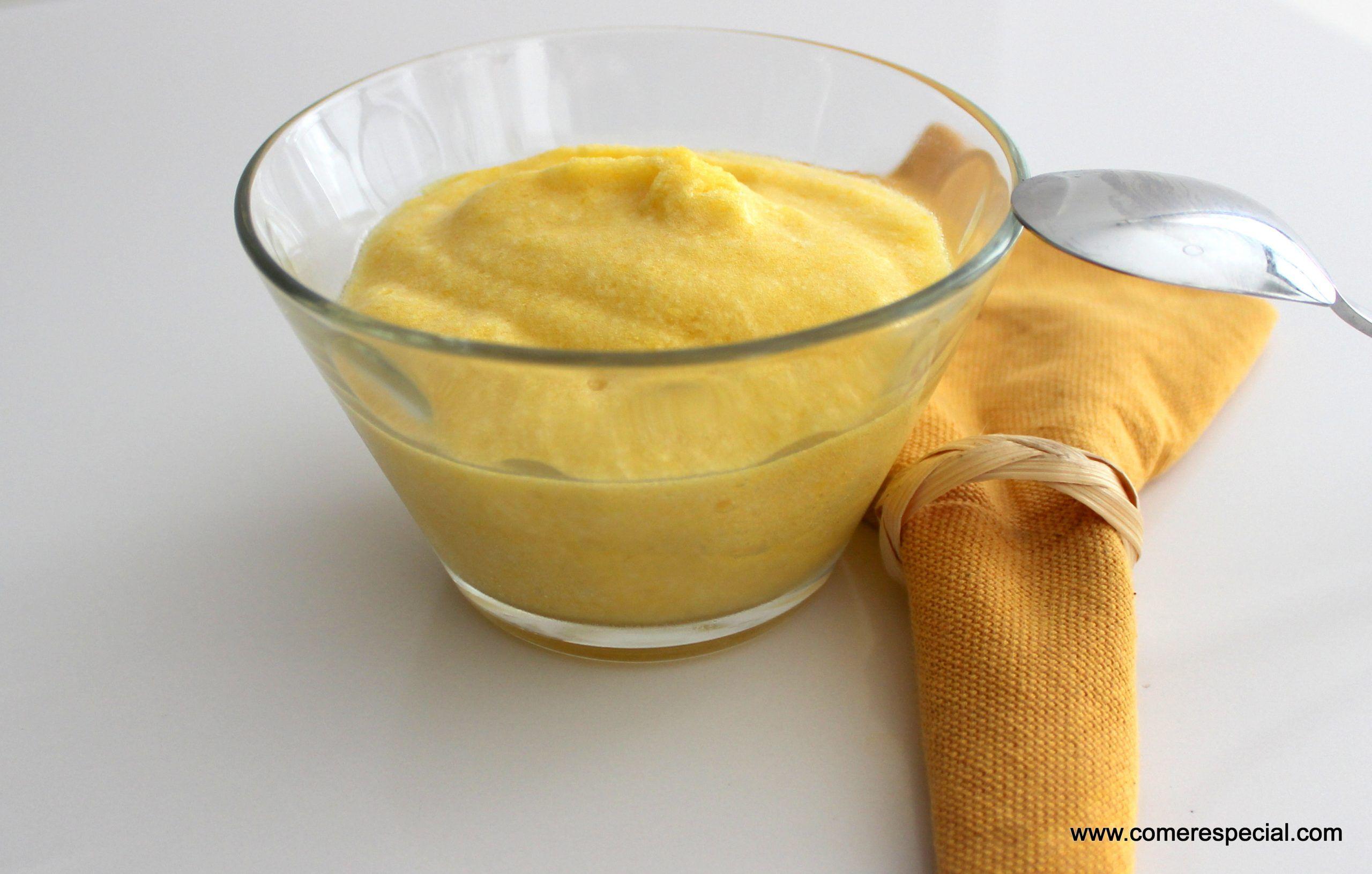 mousse de mango, mousse sin lactosa