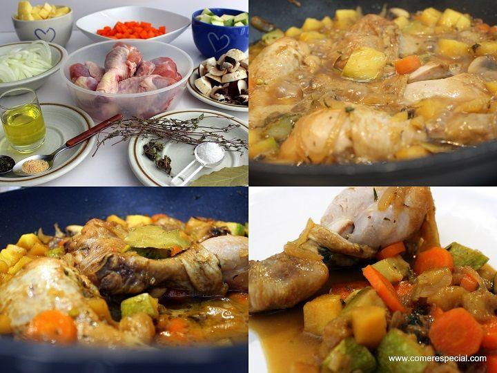 Pollo en salsa, receta de jamoncitos de pollo