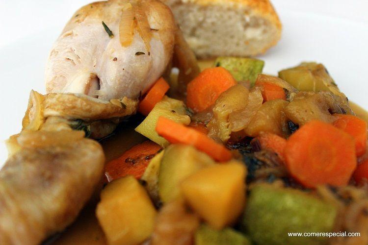 Pollo guisado, receta fácil, sabrosa y económica