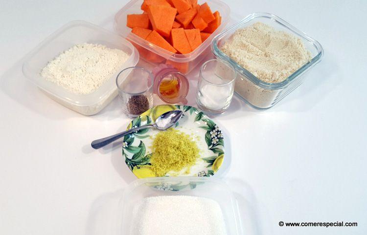Ingredientes para postre de calabaza