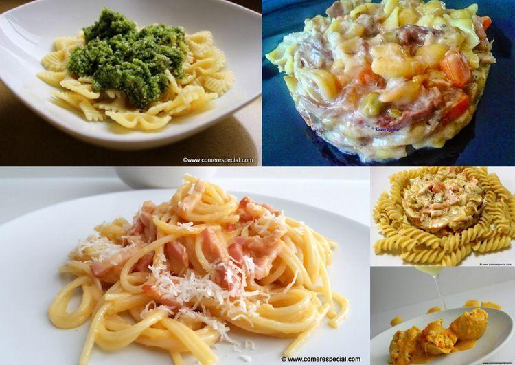 5 recetas de pasta