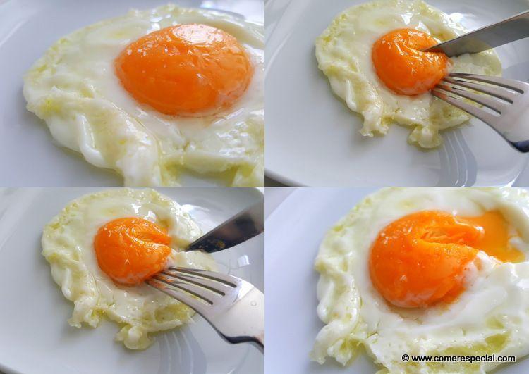 Cómo hacer huevo frito al microondas