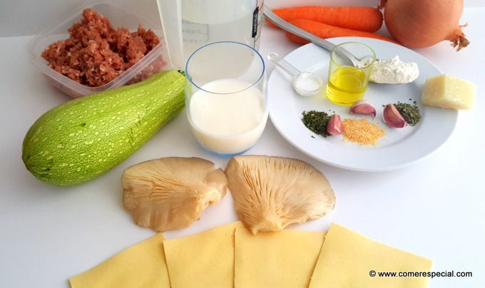 Ingredientes lasaña